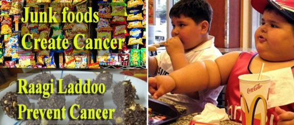 Cancer Junk food remedy - Ragi ladoo Indian traditional Snacks Prepared by Grand Mother
